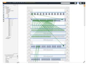 Schaltschrankansicht Pathfinder Software