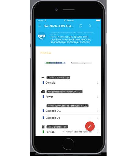 Pathfinder Mobile Geräteansicht iOS