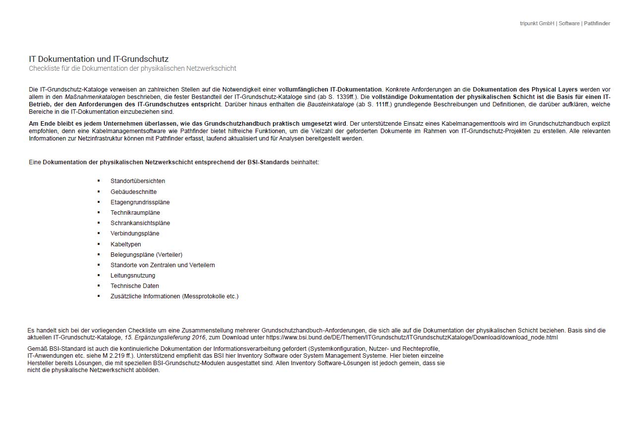 Checkliste IT Dokumentation und IT Grundschutz